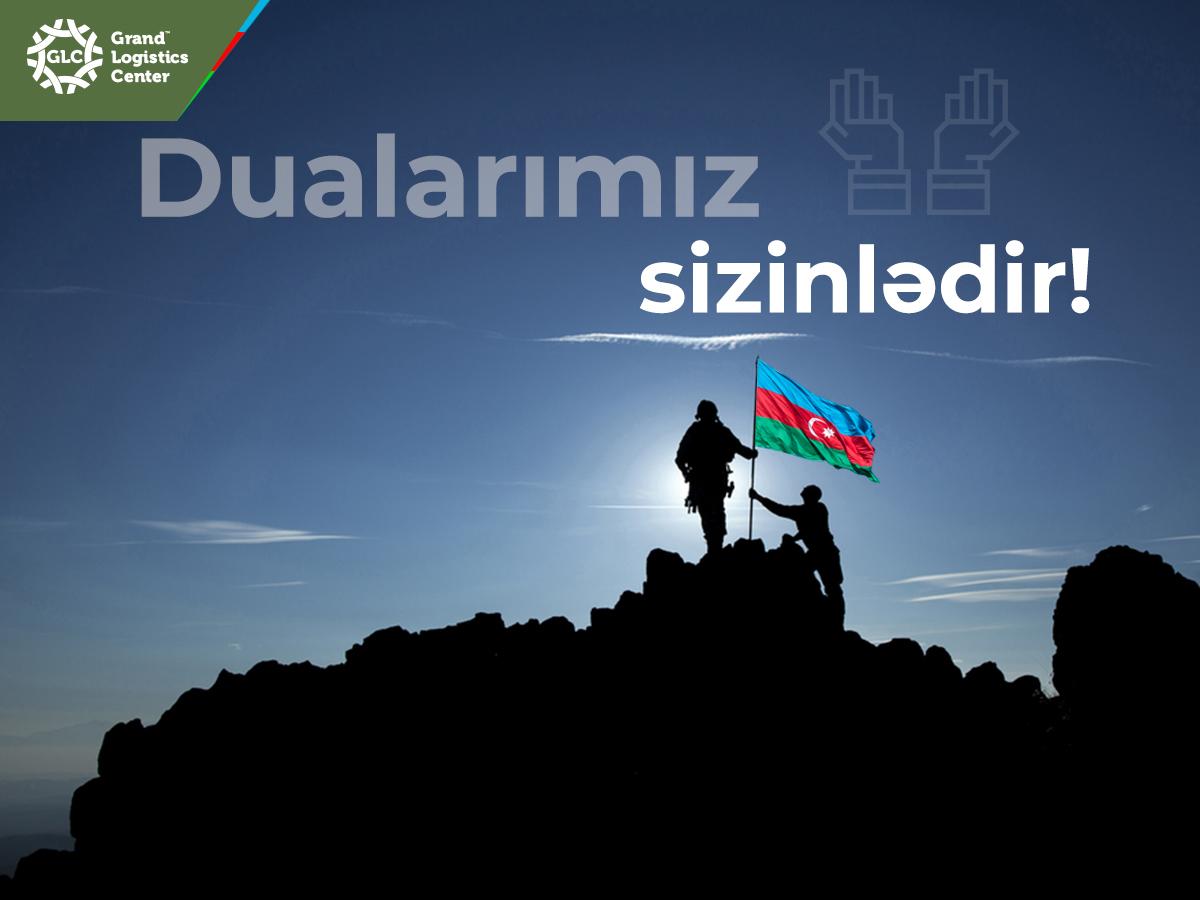 Torpaqlarımız uğrunda şücaətlə mübarizə aparan ordumuzun yanındayıq!